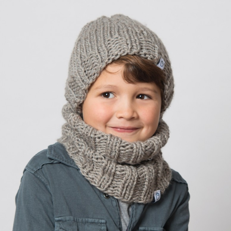 Ideale Grijze Col Sjaal Voor Kinderen O Maatje