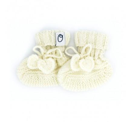 Newborn slofjes Superzacht & Biologisch (gebreid) - Crème