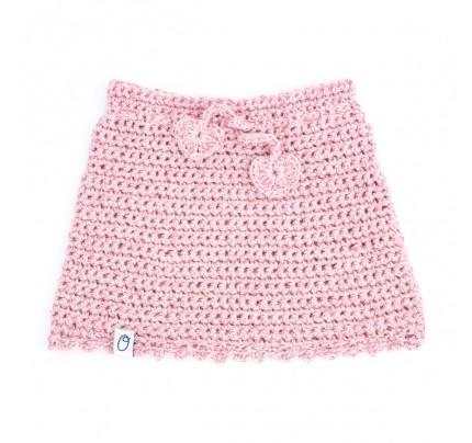 Gehaakt newborn rokje - Roze