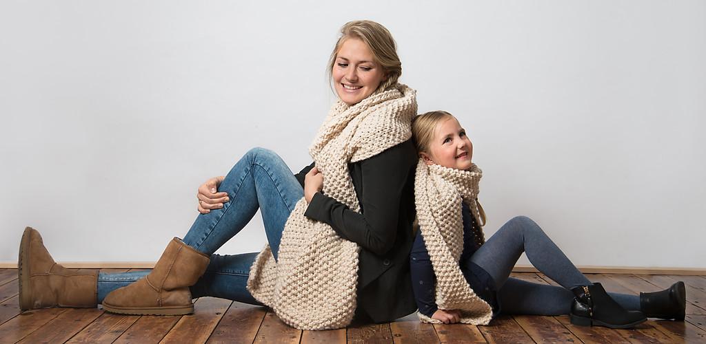 Bekend Extra grote gebreide dames sjaals van gerecycled garen. | O-maatje OQ44